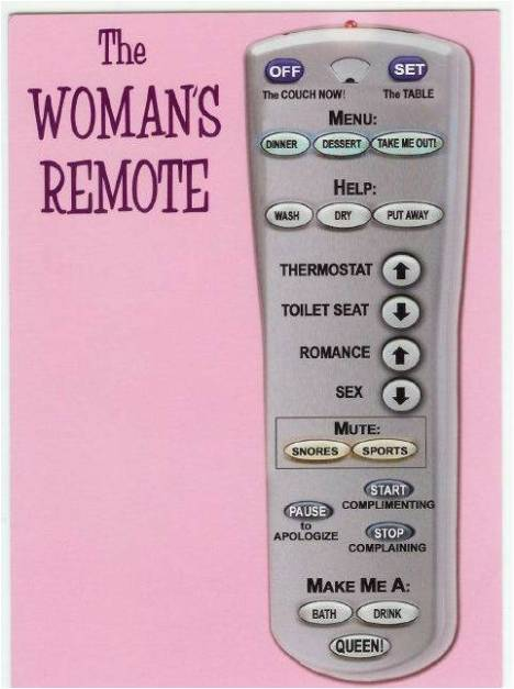 womans-remote-control