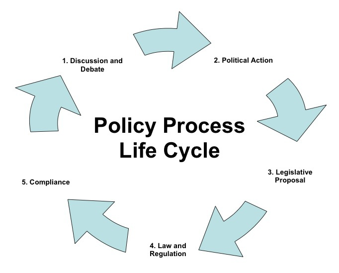 the policy process Policy making process determination of a policy's accomplishments, consequences, and shortcomings policy evaluation recognition this involves not only recognizing that an issue exists, but.